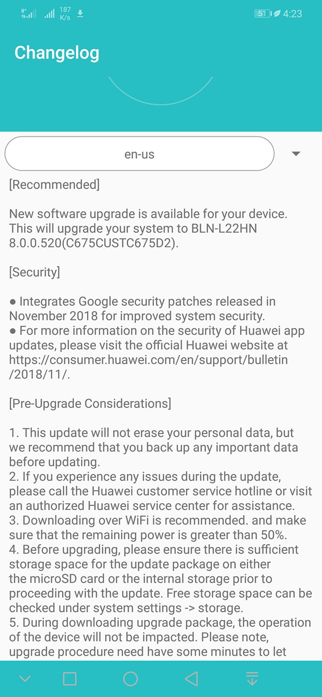 GR5 17 Indian version already update coming in November Android oreo.