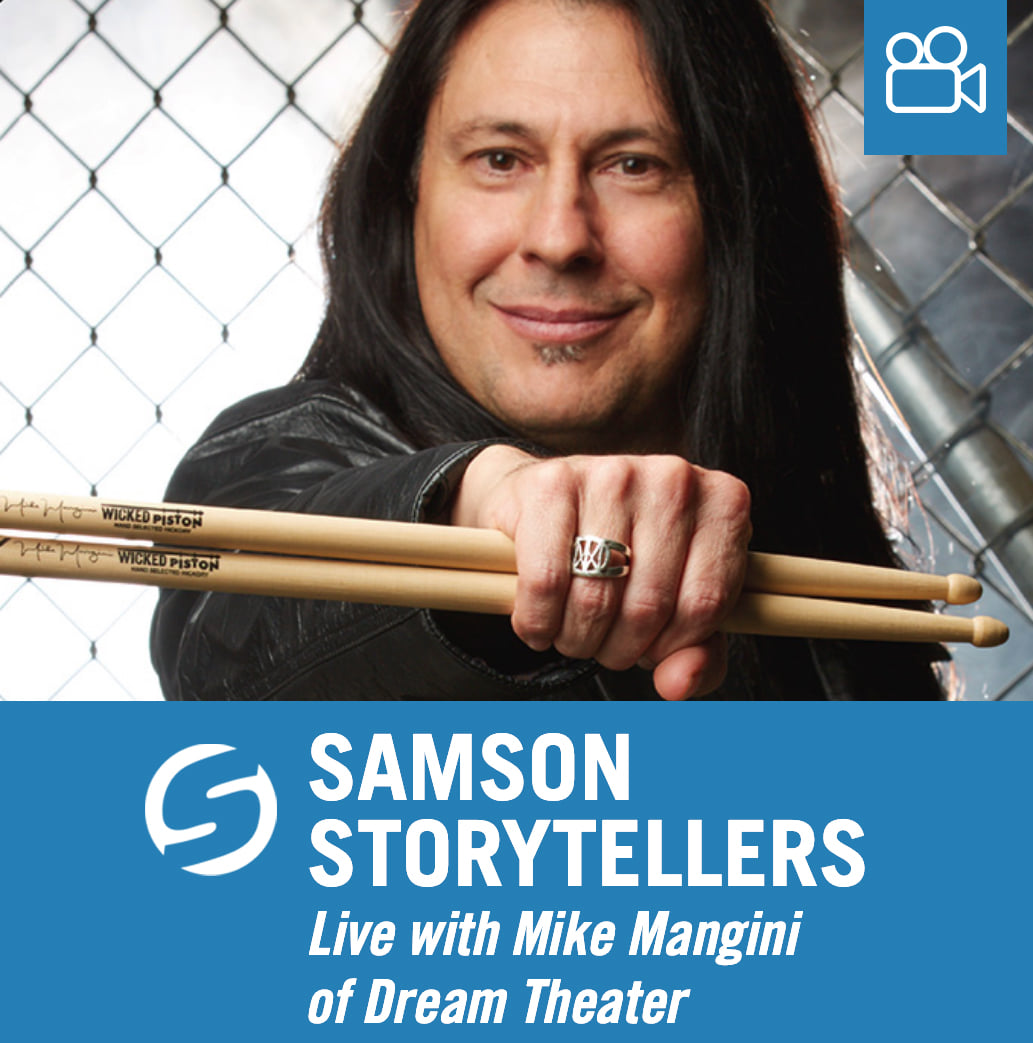 Tune into our Facebook live stream on Wednesday, March 3rd at 7 p.m for a discussion with Mike Mangini of Dream Theater! We'll be breaking down utilizing Samson gear, studio recordings, video courses, and the versatility it takes to be an audio engineer, videographer, software troubleshooter, speaker, and teacher. Find out more about Mike and his upcoming projects here: