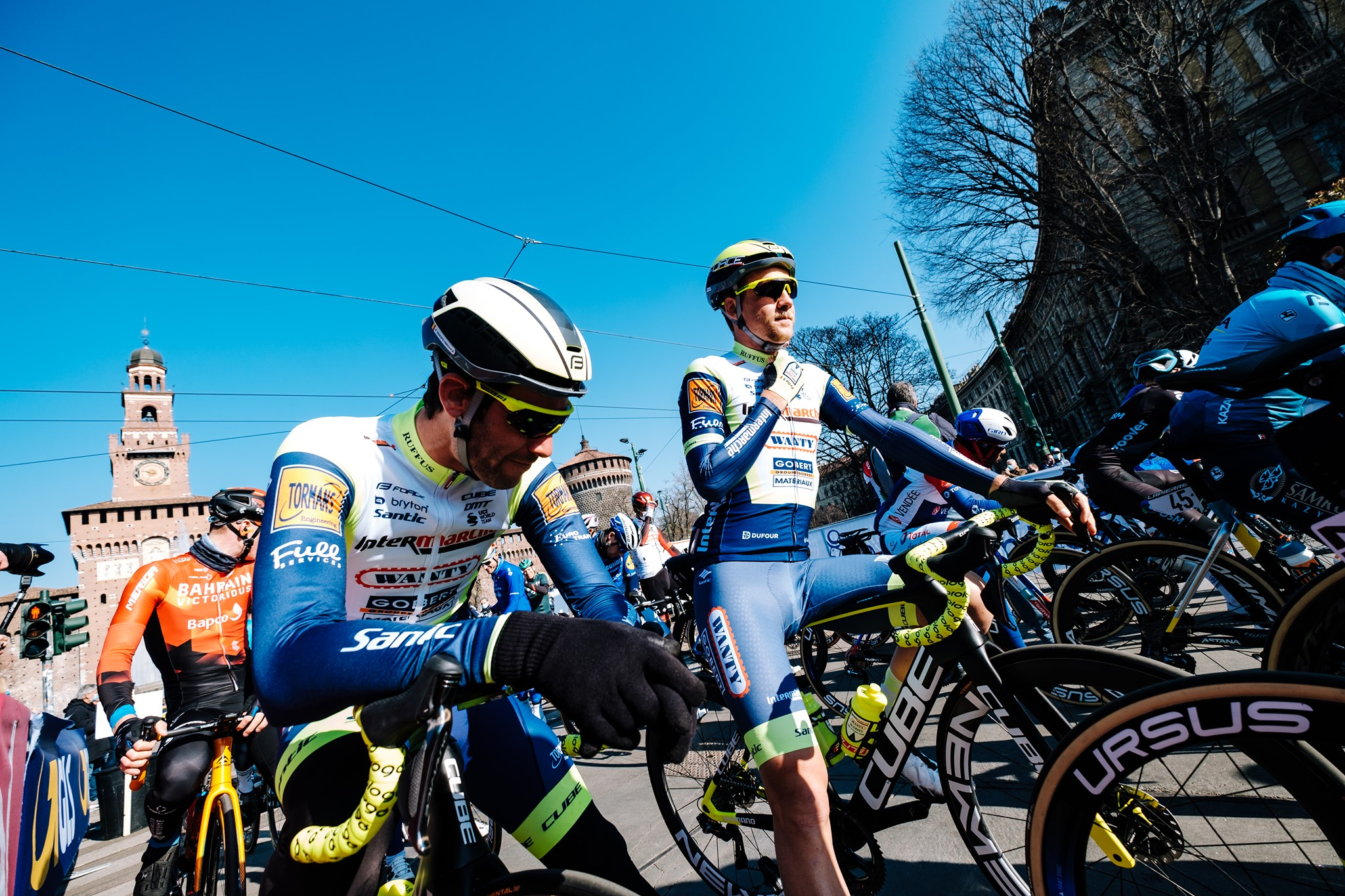 Parts of highlights from Intermarché-Wanty-Gobert in #milanosanremo