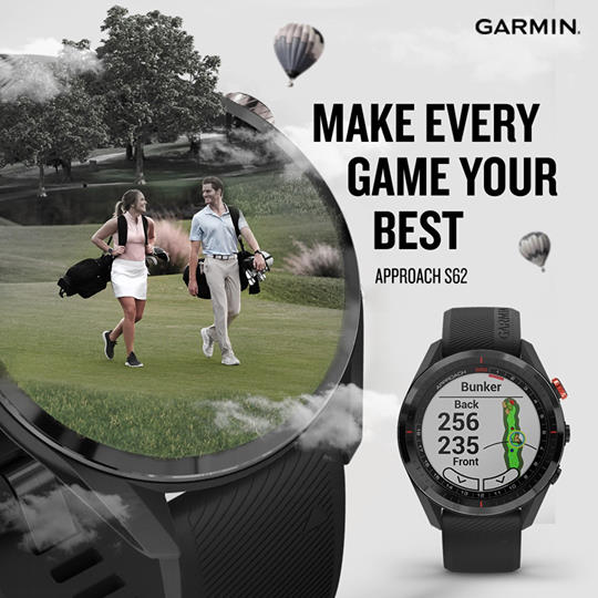 Approach the green with all the right stuff. The Garmin Appraoch S62 features a Hazard View that enables you to quickly scroll through each hazard on the map and assess the distance with pure precision.