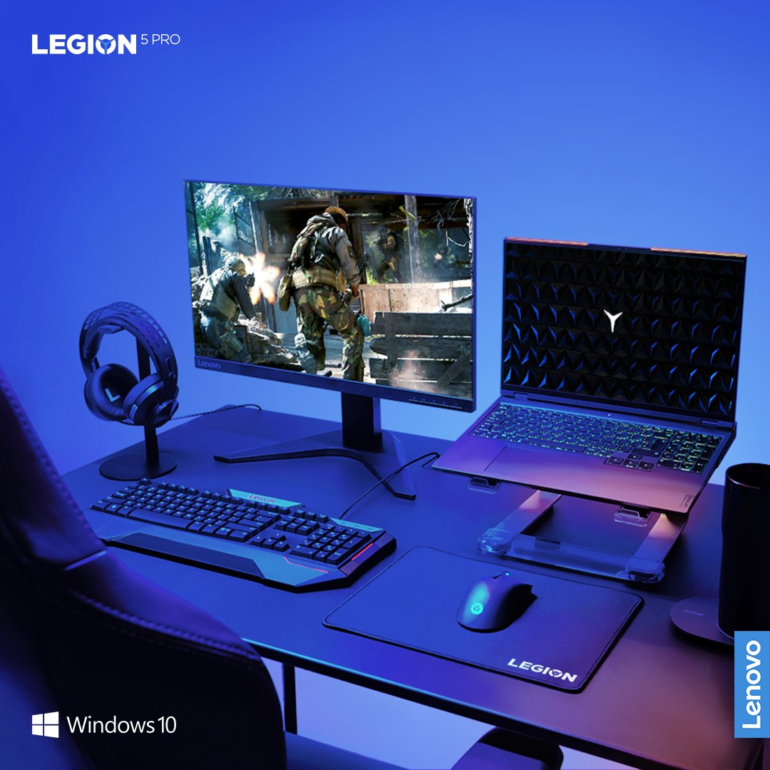 It's 7pm. The lights are perfectly dim. Your Legion 5 Pro sits on the table. It's RGB keyboard flickering.  Which game do you power up for the night? @windows 10 unlocks the potential of your system's hardware....