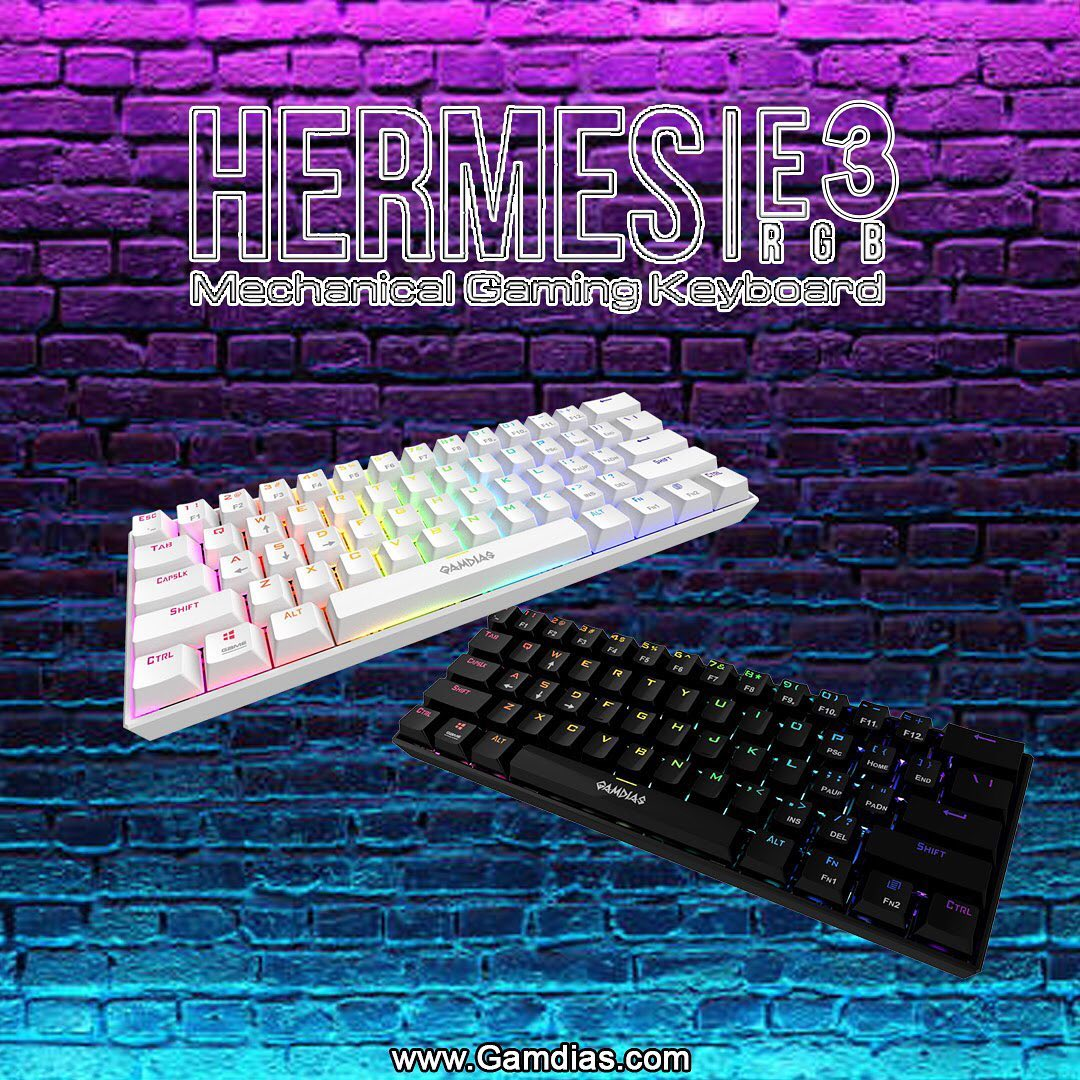 You'll gonna love this 60% Keyboard! HERMES|E3 Mechanical Gaming Keyboard ‼️ Available in 🔴Red & 🔵Blue GAMDIAS Certified MX Switches❕... ===========================