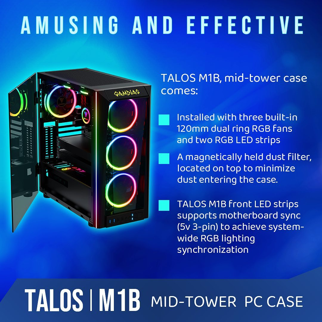Perfection and Beauty❕ TALOS|M1B Mid🗼Tower PC Case