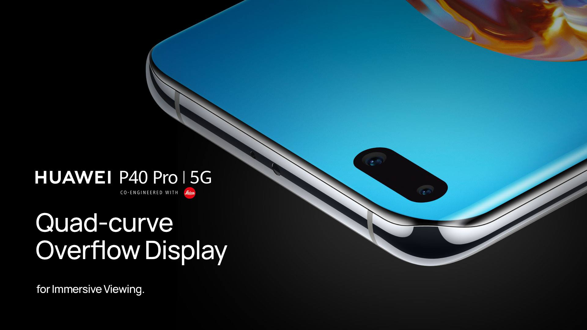 With a full immersion Quad-curve Overflow Display on the #HUAWEIP40 Pro, live life on the edge! 🤩