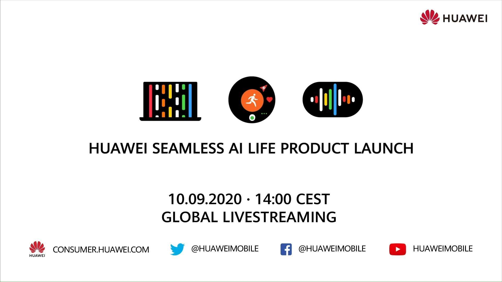 Our HUAWEI SEAMLESS AI LIFE PRODUCT LAUNCH takes place tomorrow at 2:00pm CEST! Set a reminder now to be alerted when we go live.​