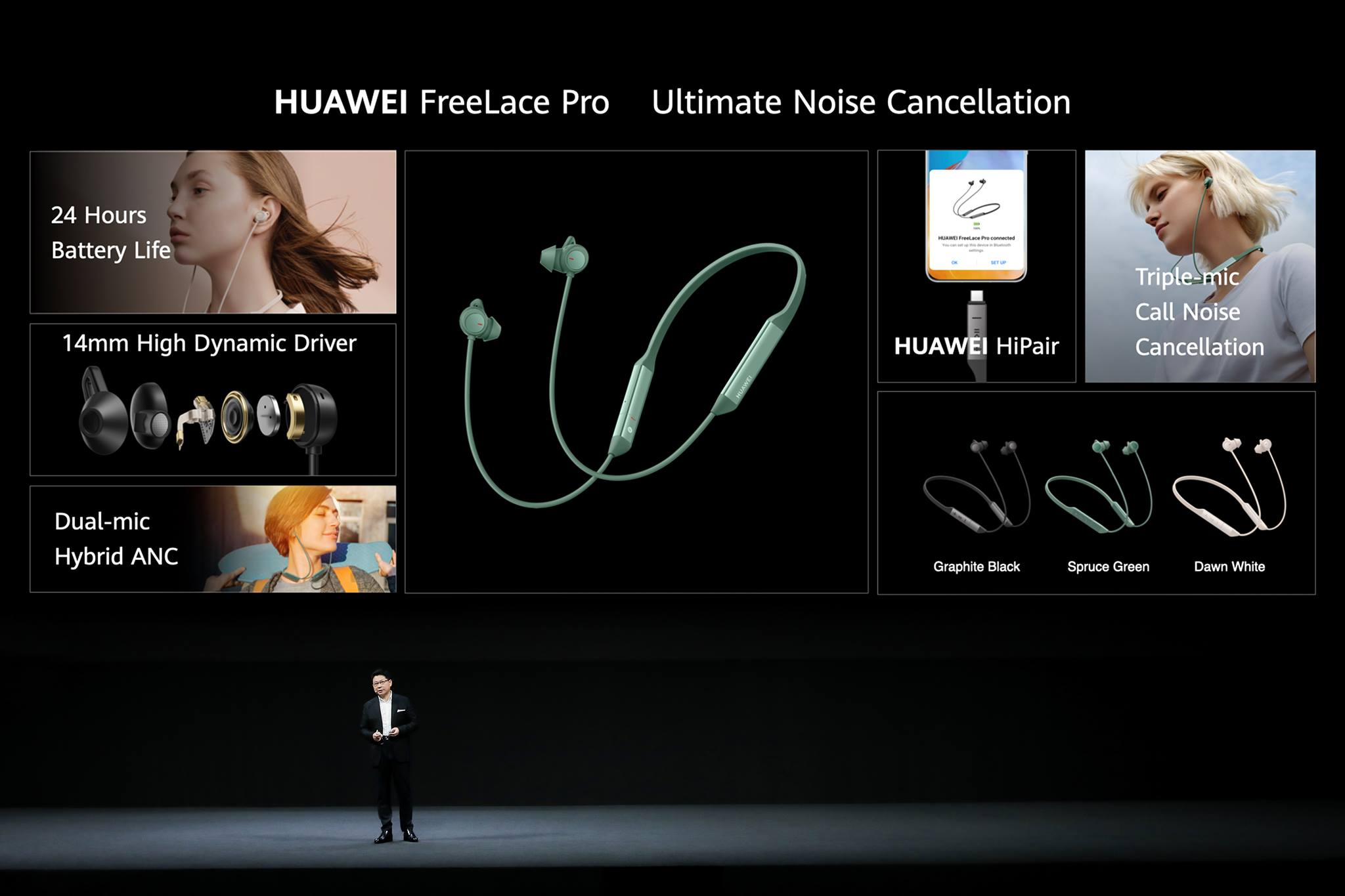 Providing long-lasting battery life, crystal clear microphone and ultimate Noise Cancellation, the #HUAWEIFreeLacePro are the wired headphones not to be missed.