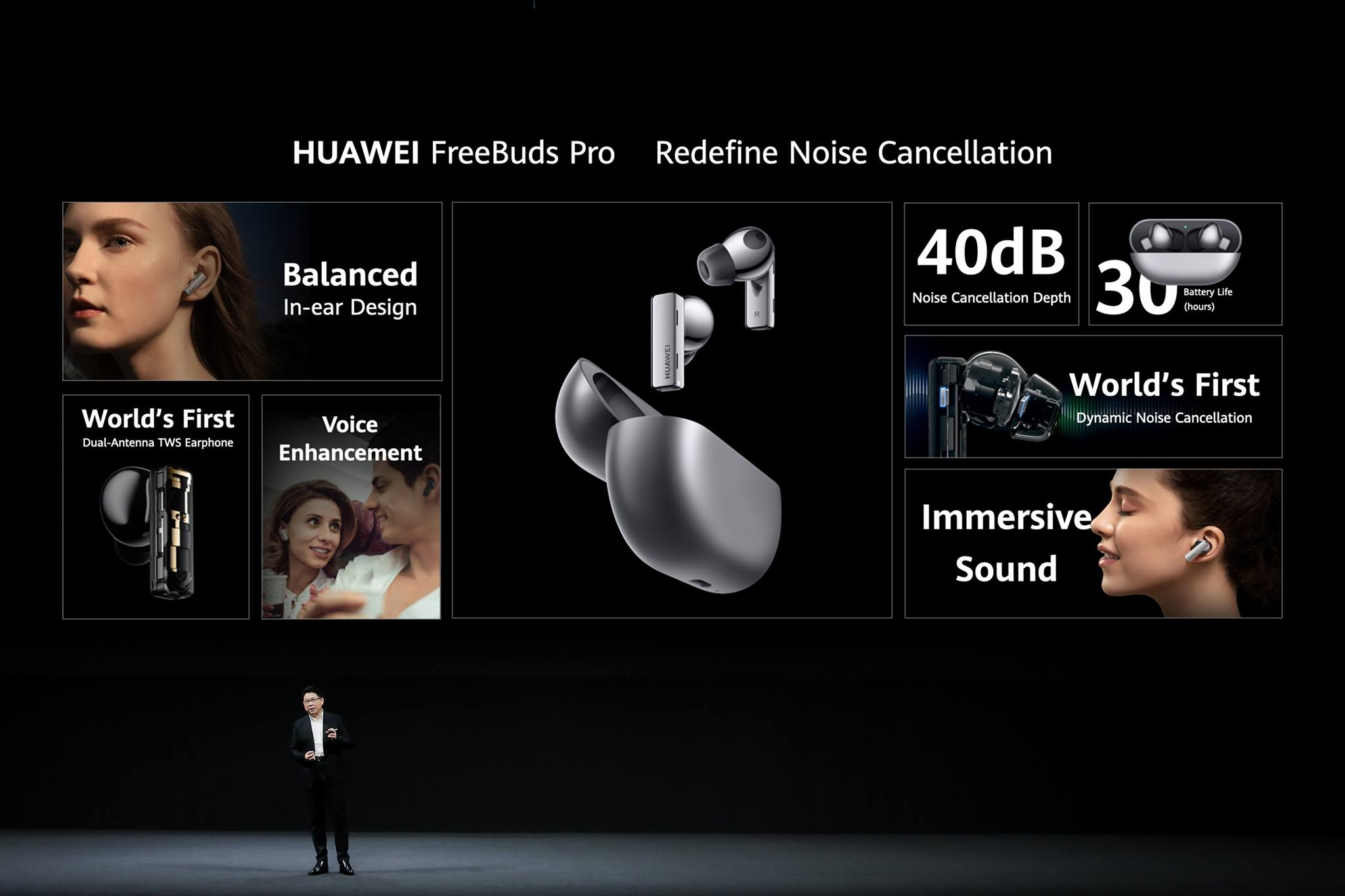 The world's first pair of Dynamic Noise Cancellation earphones, #HUAWEIFreeBudsPro will help you fall in love with your favourite music all over again🎵